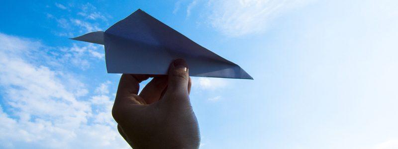 aereo di carta telecomandato